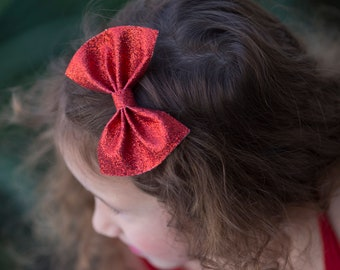 Red Glitter Hair Bows, Glitter Red Bows, Red Christmas Bows, Red Glitter Bows, Fancy Red Bows, Glitter Christmas Bows, Red Hair Bows