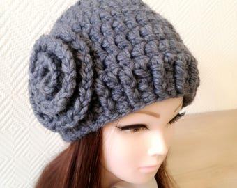 Grey hat, Winter Hat, Womens Hat,  Wool hat, Girlfriend Gift,Hats, trendy hat