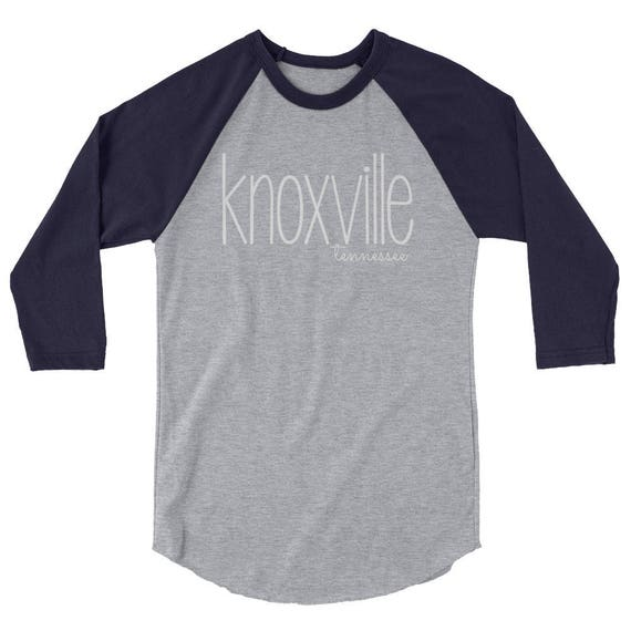 Knoxville Tennessee TN Unisex Men's Women's 3/4 sleeve raglan shirt tshirt tee