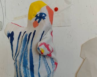 Hand painted two sided glove puppet
