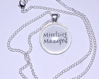 Mischief Managed Necklace or Keychain Maruaders Map