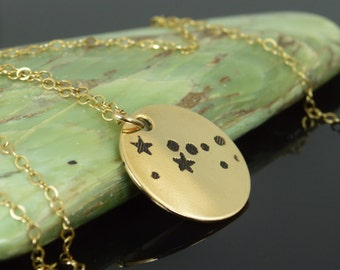 Taurus Pendant, 14k Gold Filled, Taurus Necklace, Zodiac Necklace, Zodiac Jewelry, Horoscope Necklace, Gold Necklace, Taurus Jewelry, Alari