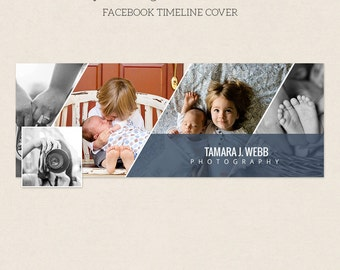 Facebook Timeline Cover - Facebook Timeline Template - PSD Template - Customize Facebook Page - Instant Download - F229
