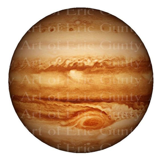 Jupiter Solar System Planet Birthday - Edible Cake and Cupcake Topper For Birthday's and Parties! - D22392