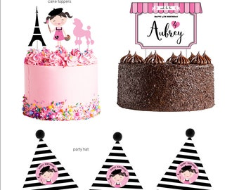 DIGITAL FILES Pink Paris Painting Party Decorations, Painting Birthday, Paris Theme, Paris Painting Party Kit, Paris Girl Party Collection