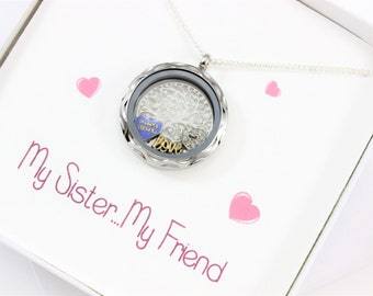 unique sisters gift sister necklace a sister forever
