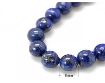Lapis Lazuli beads 23 natural round 8mm