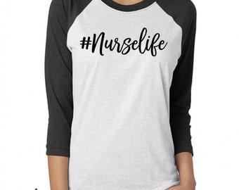 Nurse Shirt. Nurselife Shirt. #Nurselife. Hashtag Nurse. Top Knot Coffee Scrubs Nurse Life Shirt. RN. Nurse. Nurse Gift. Nurse Top.