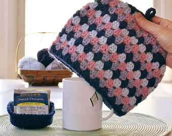 Crochet pattern mug cozy Tea for ME UNsquared Granny tea cozy crochet pattern tea cosy tea cosie INSTANT Pdf DOWNLOAD kitchen crochet knit