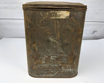 Old Rustic Imperial Tea Tin Can Container Empty Box