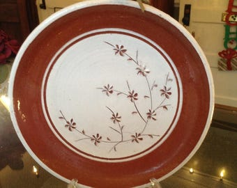 Floral Pottery Plate