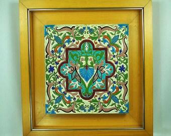 """Antique Spanish Tile """"Pickman & Co."""""""