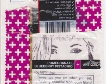Monhegan Island Kind Wrapper Litter Upcyled Greeting Card