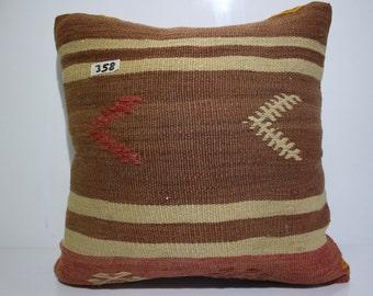 "Vintage kilim pillow cover 20x20 Turkish Kilim Pillowcase,Kilim Cushion Case 20""x20"" Decorative Pillows Throw Pillow SP5050-358"