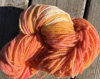 Hand Dyed Wool - Peaches and Cream