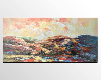 Oil Painting Landscape, Canvas Painting, Mountain Landscape Painting, Original Art, Original Painting, Modern Wall Art, Abstract Art