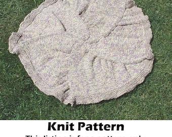Baby blanket knit pattern, knit round baby blanket pattern, knit baby afghan pattern, knit blanket pattern, knit carseat blanket pattern