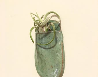Wall planter hanging pottery wall pocket modern vase ceramic wall art indoor planter