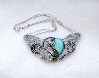 """Soutache necklace """"Fairy Heart"""""""