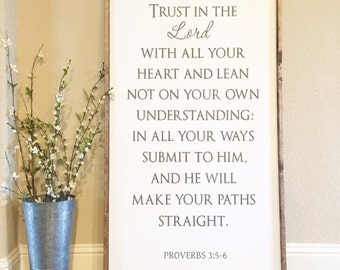 Proverbs 3:5-6 sign