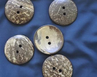 handmade coconut button