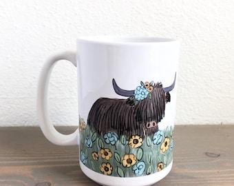 Pre-Order for Highlander Cow | 15 oz Coffee Mug