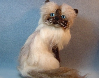 Needle felted Cat custom pet sculpture order memorial portrait