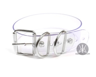 Buckle Choker XL, Plain Vinyl Choker, Collar, Belt Buckle Choker, PVC, Silver | Shop Kadabra