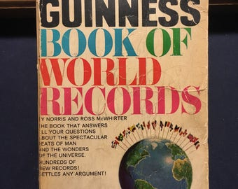 Guiness Book of World Records Novel Book - 1966 Edition