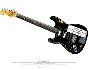 Kurt Cobain's Vandalism Stratocaster ART POSTER A2 size