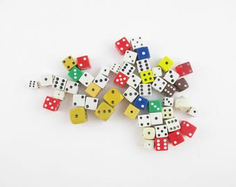 Fifty-two Dice - 52 Dice - Collect, Collect, Collect - Instant Collection of Dice - Red - Yellow - Brown - White - Blue - Green - Fun