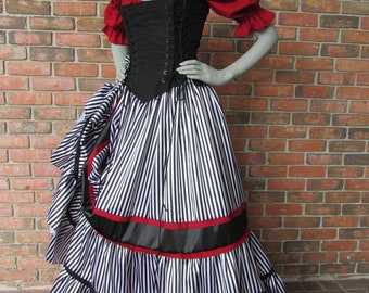 Pirate Renaissance Corset Dress Witch Wench custom Gown costume