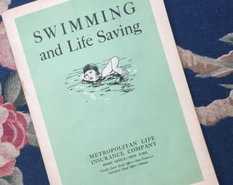 40's Swimming and Life Saving Pamphlet  by Metropolitan Life Insurance  Company