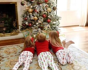 Nutcracker Christmas Pajamas, Children's Holiday Pajamas, PJs, Baby Gown, Matching Doll Pajamas - PRE ORDER 1