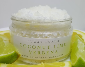 Noix de coco citron verveine gommage - noix de coco citron verveine exfoliant - gommage naturel - noix de coco Lime gommage