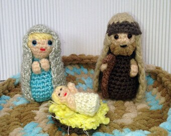 Christmas Nativity Set (minimal) - Amigurumi Crochet