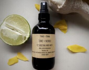 Lime + Neroli Texturizing Hair Mist | Sea Salt Hairspray | Hair Texturing Spray | Hydrating Hairspray | Hair Volume | Beachy Waves | Vegan |
