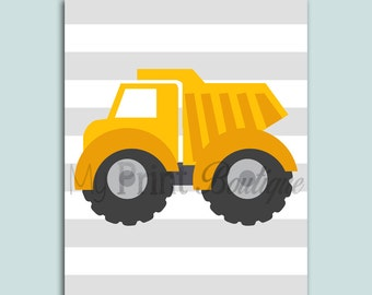 Adorable Dump Truck Digital Download 8x10 - Nursery or Children's Room Wall Art