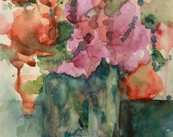 Spring Bouquet - Original Watercolor