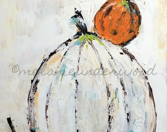pumpkin painting/original painting/fall art/thanksgiving decor/ pumpkin art