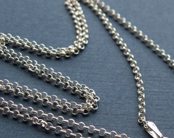 Sterling silver 18 inch Rolo Chain (1.5mm)