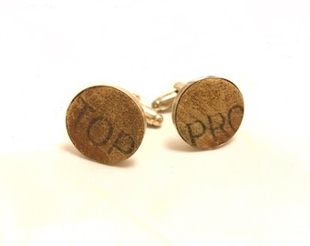 TOP PRO Vintage Baseball Glove Leather Cufflinks