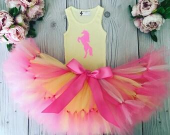 Unicorn Birthday Outfit | Pink Unicorn Tutu | 1st Birthday Outfit | First Birthday Outfit | Unicorn Tutu | Cake Smash Outfits | Tutus