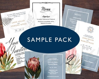 Sample Pack - Modern Invitations