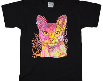 Kids Abyssinian Cat T-Shirt for Kids and Adults (PreSchool, Youth, and Adult Sizes Available)