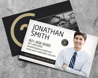 Real estate business card design business card for real estate century 21 business card real estate business card design realtor business card brokerage business card custom design colourmoves