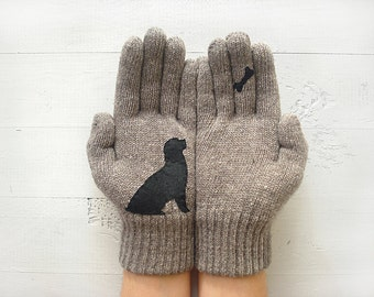Dog Gloves, Pet Gift, Animal Gift, Dog Lover Gift, Dog Mitten, Women Gloves, Mother Gift, Sales Event, Wildlife Gift, Wildlife Kingdom