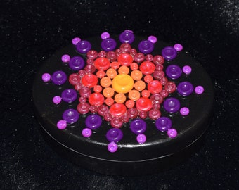Purple to Red Mandala Polymer Clay Decorated Box