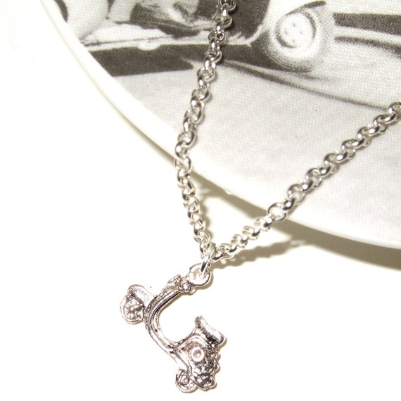 Scooter Necklace, Moped Pendant, Mod Scooter Charm, Silver Scooter Charm, Mod Jewelry, Vespa Style, Simple Necklace, Scooter Charm Jewelry