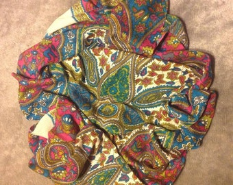 Multi Colored Paisley Scarf/Wrap